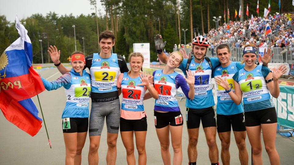 Russia won mixed relay gold on day one of the IBU Summer World Championships ©IBU