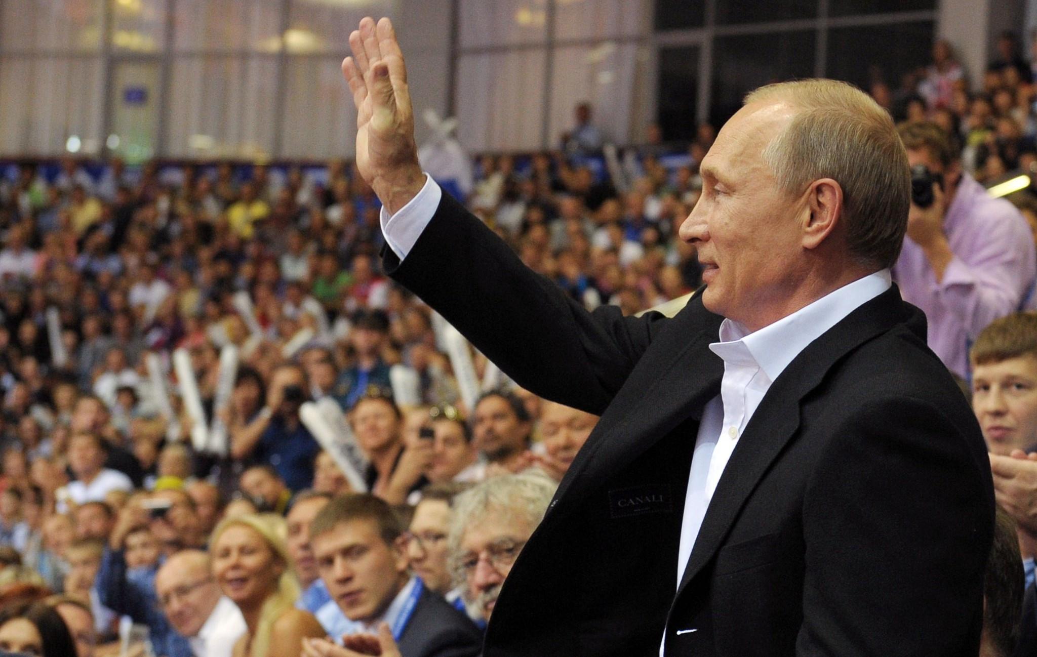 Russian President Vladimir Putin last visited the IJF World Championships in  Chelyabinsk three years ago ©Getty Images