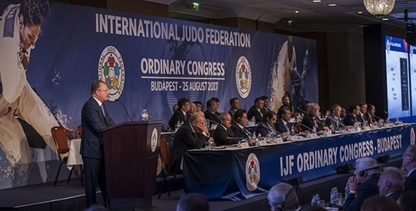 Marius Vizer has been re-elected for a new four-year term as President of the International Judo Federation ©IJF