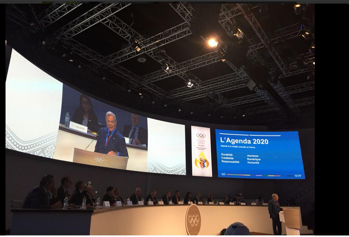 128th International Olympic Committee Session: Update on Agenda 2020