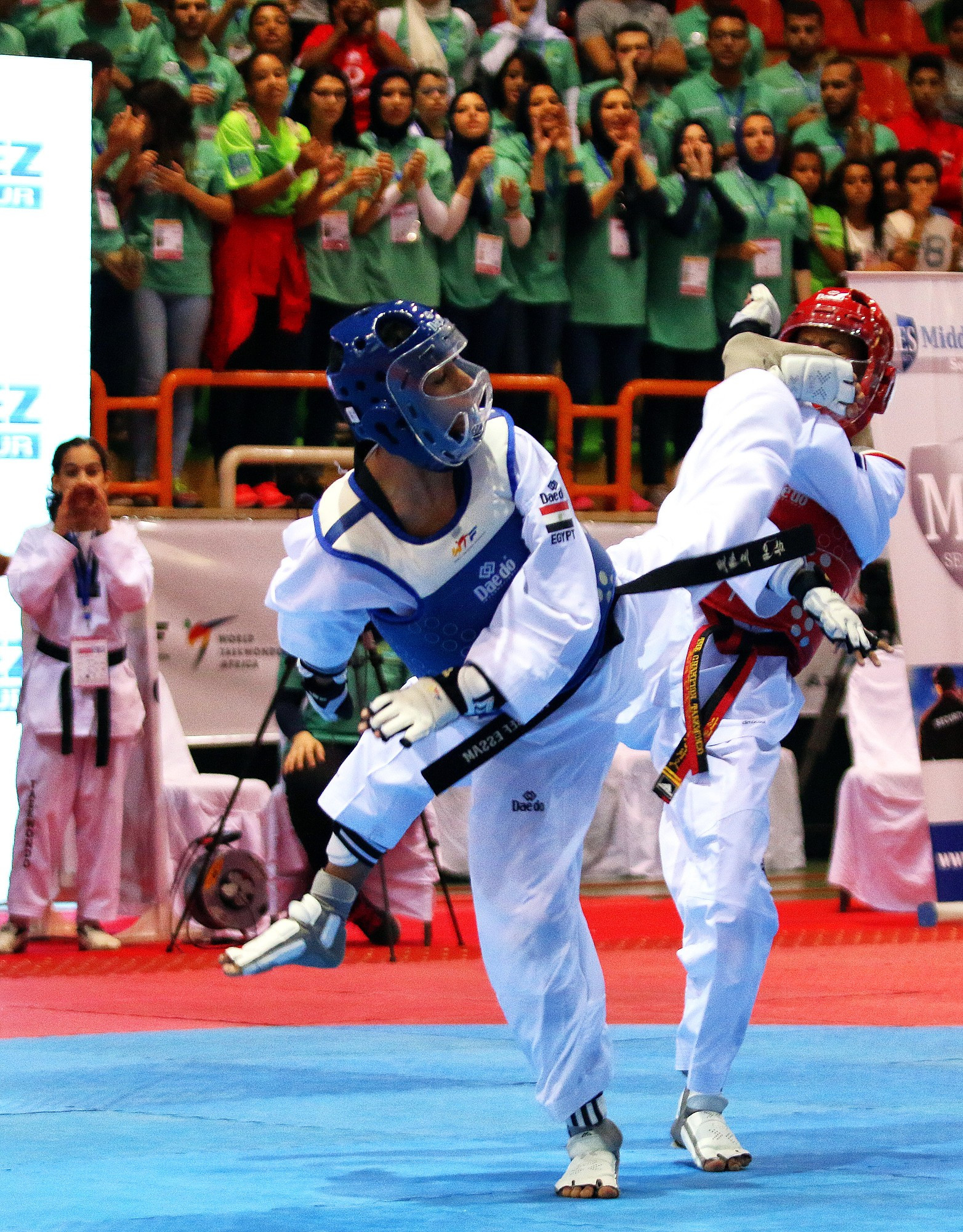 Youssef Mansour's gold delighted the home crowd ©World Taekwondo