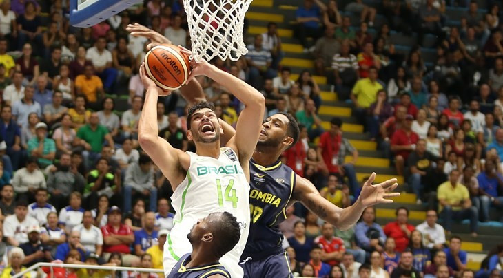 Brazil pipped hosts Colombia as the FIBA AmeriCup began ©FIBA
