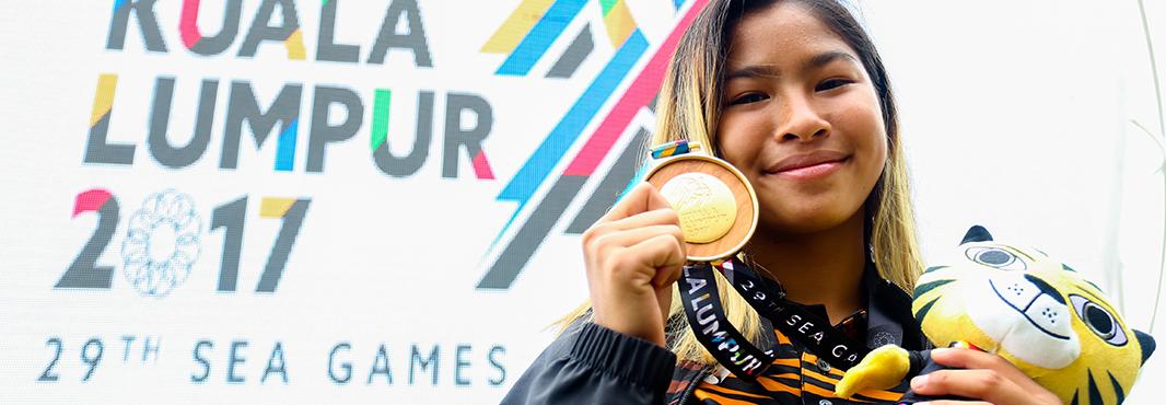 Aaliyah Yoong won Southeast Asian Games gold in water skiing ©Kuala Lumpur 2017