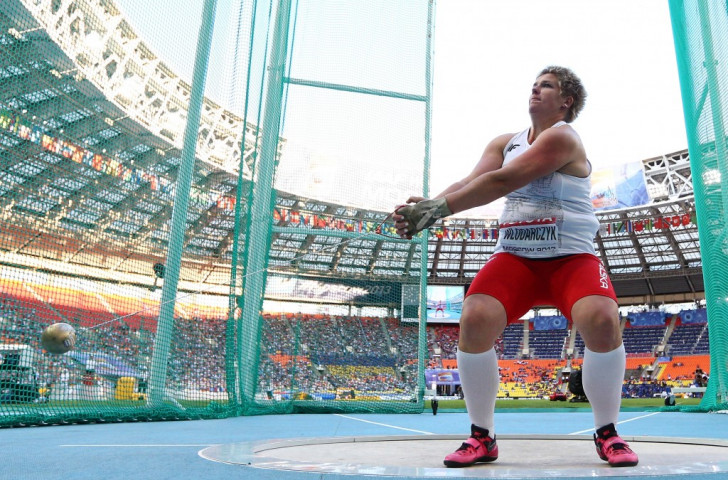 Poland's Anita Wlodarczyk will go to this month's World Championships in Beijing as favourite for gold after becoming the first woman to throw the hammer more than 80 metres