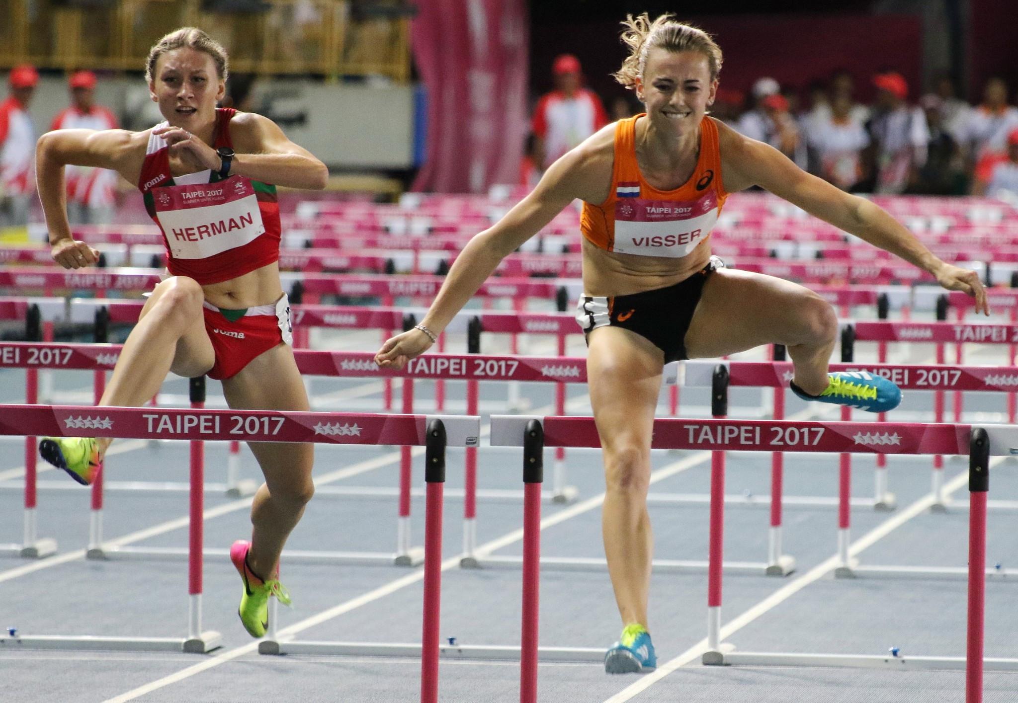 Nadine Visser claimed the 100m hurdles title in impressive fashion ©Taipei 2017