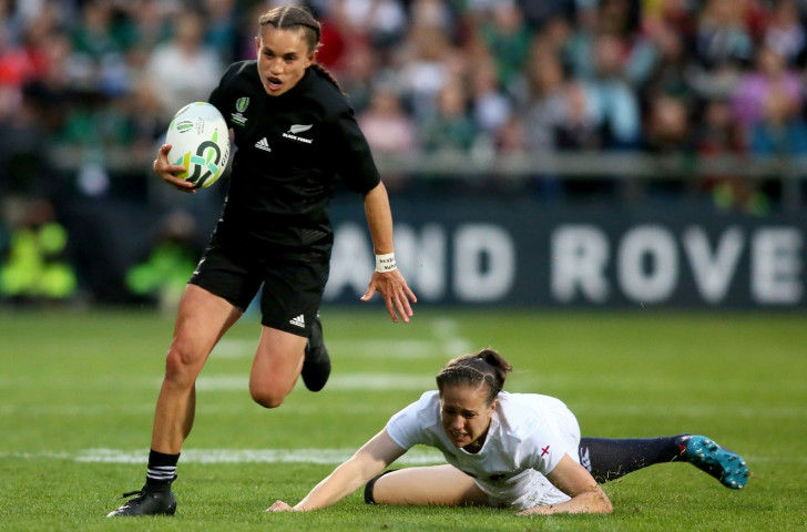 Selica Winiata gave New Zealand an early lead by breaking clear for the opening try ©Getty Images