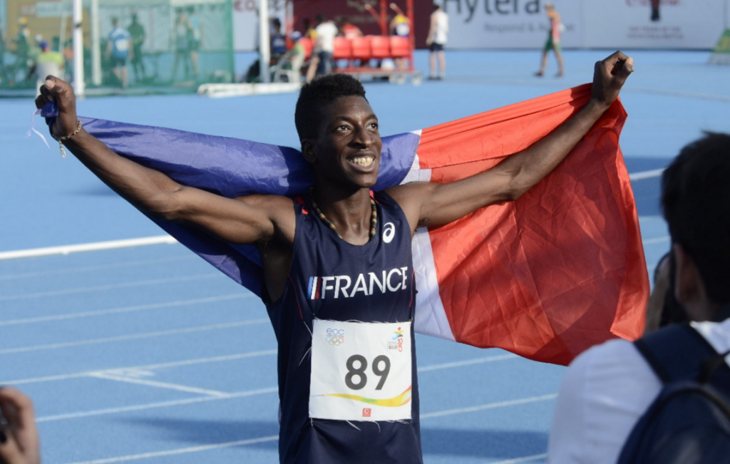 Florian Barbier was one of three French athletes to earn success on the athletics track