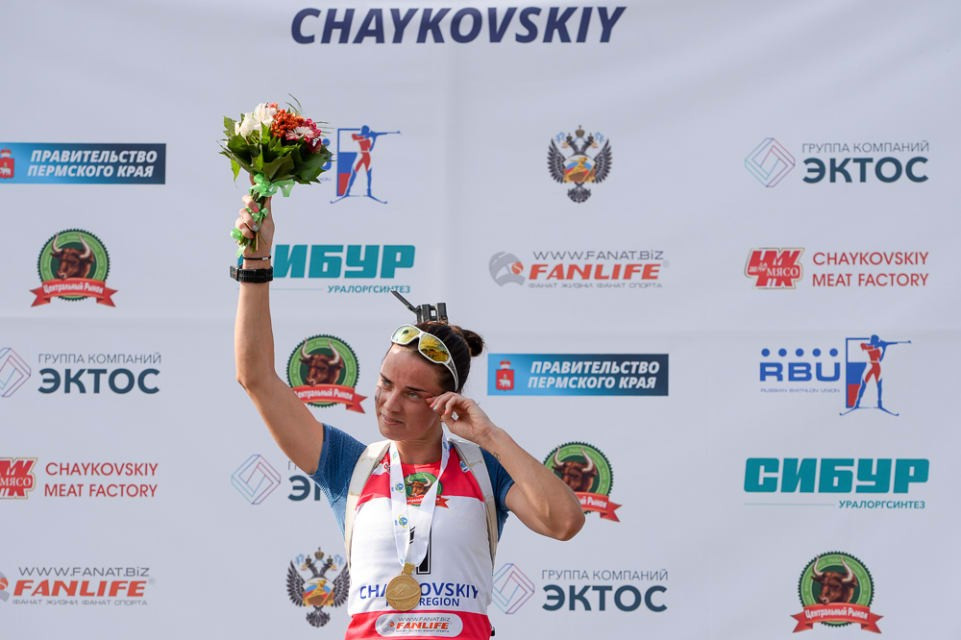 Sleptsova marks retirement with third IBU Summer World Championship gold