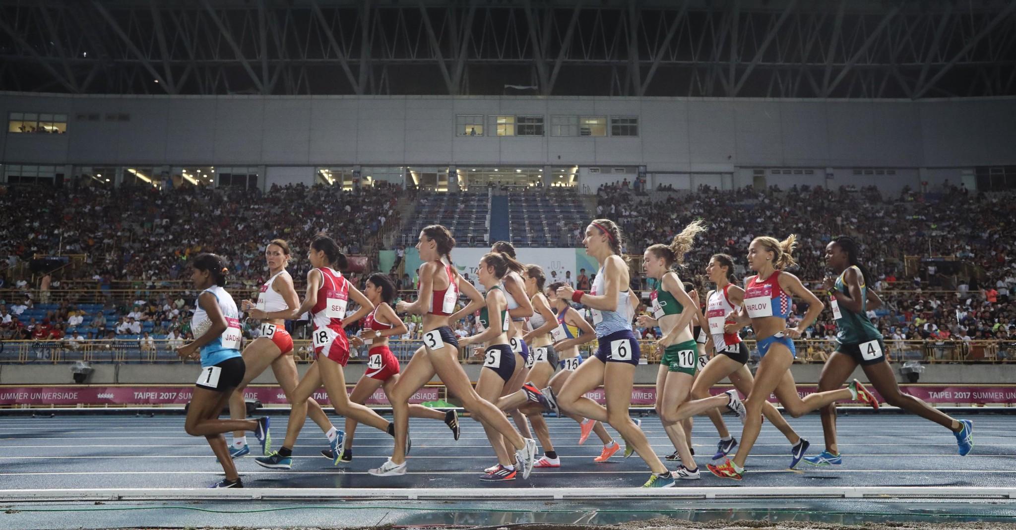 Germany's Hanna Klein won the women's 5,000m title ©Taipei 2017