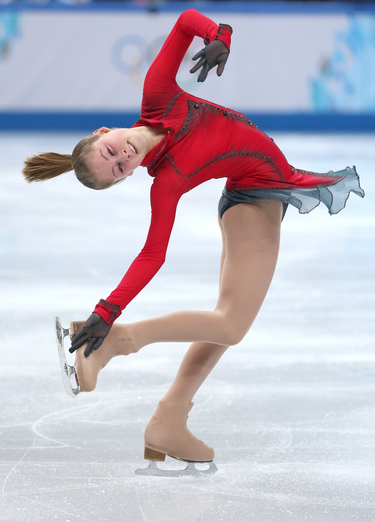 Yulia Lipnitskaya became the youngest Olympic figure skating gold medallist in modern times when she helped Russia to the team title at Sochi 2014 ©Getty Images