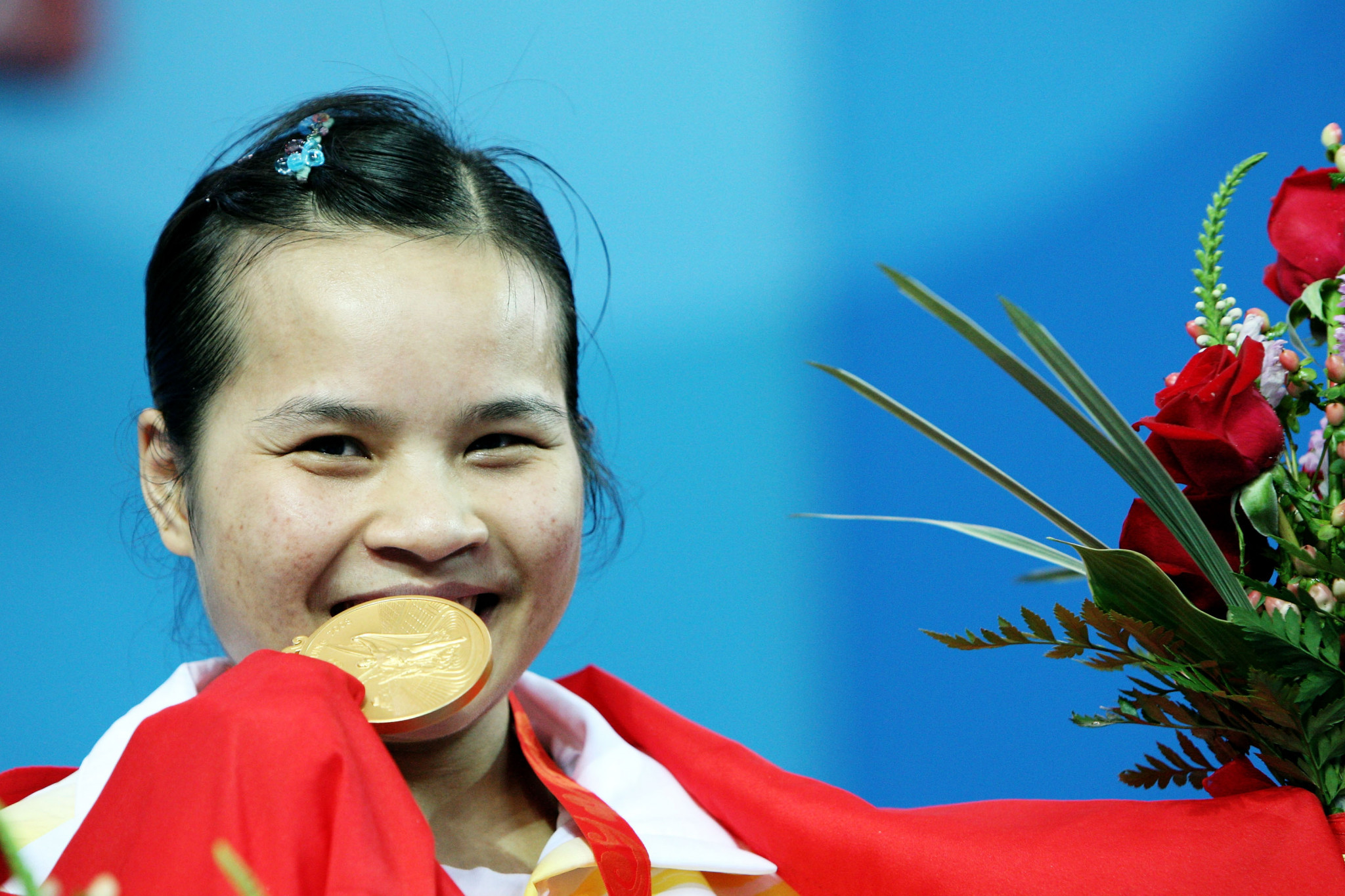 China's Chen Xiexia has been stripped of the Olympic gold medal she won in the 48kg category after a re-analysis of her sample from Beijing 2008 tested positive ©Getty Images
