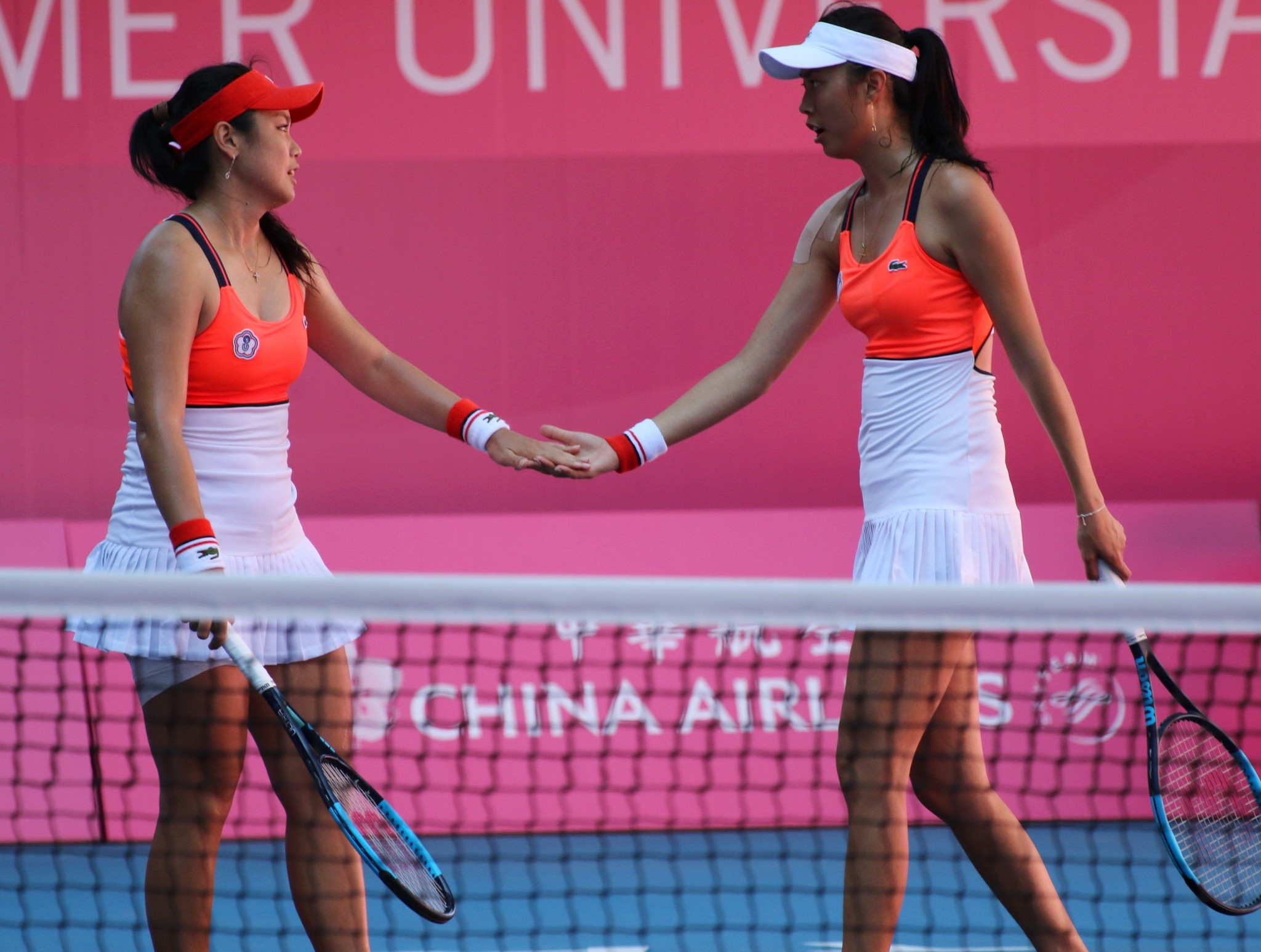 Sisters Chan Yung-jan and Chan Hao-ching won the women's doubles final for Chinese Taipei ©Taipei 2017