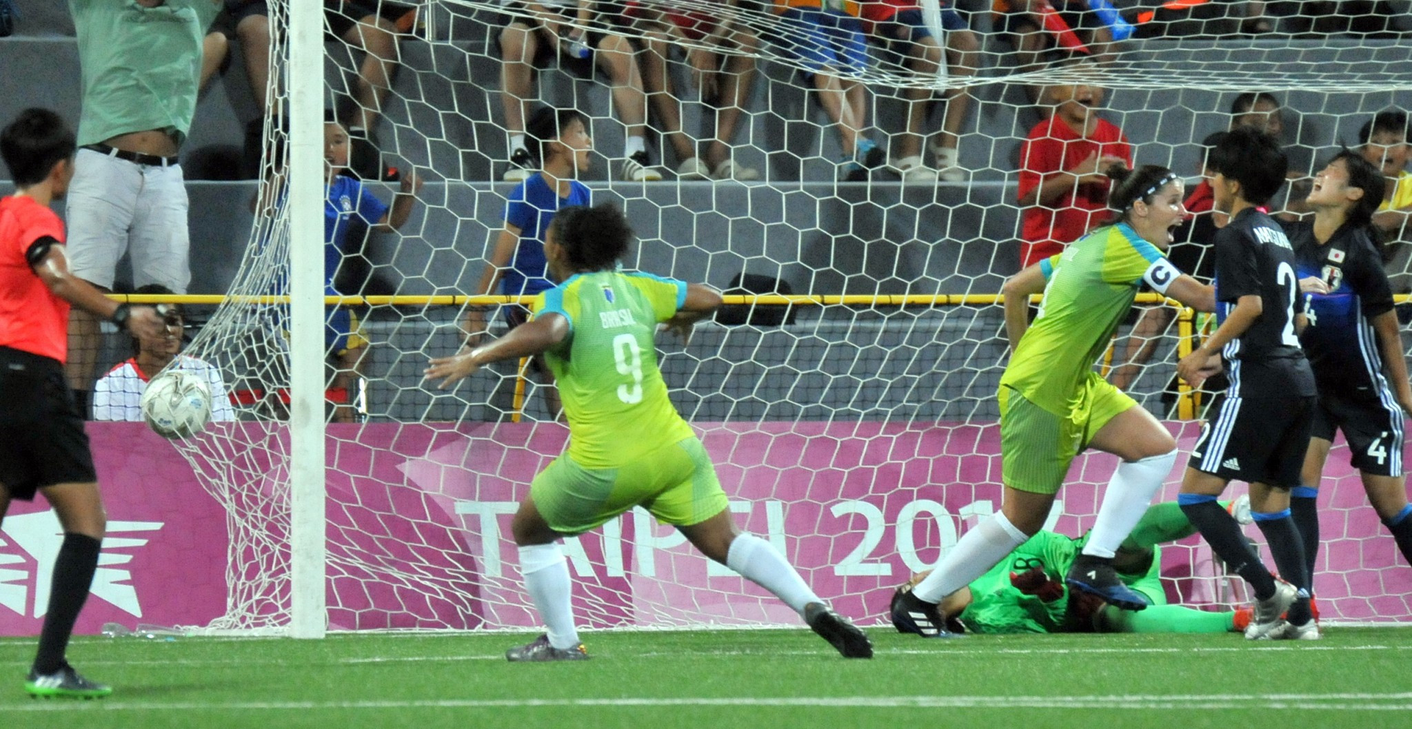 Diany Aparecida Martins scored the winner for Brazil in the 112th minute ©Taipei 2017