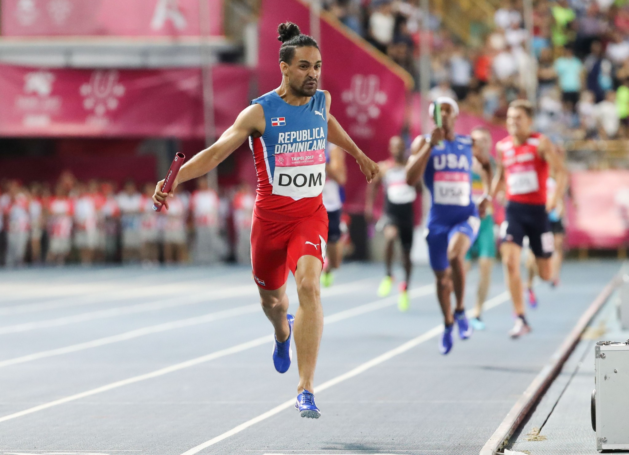 Dominican Republic triumph in men's 4x400m to bring Taipei 2017 athletics action to a close