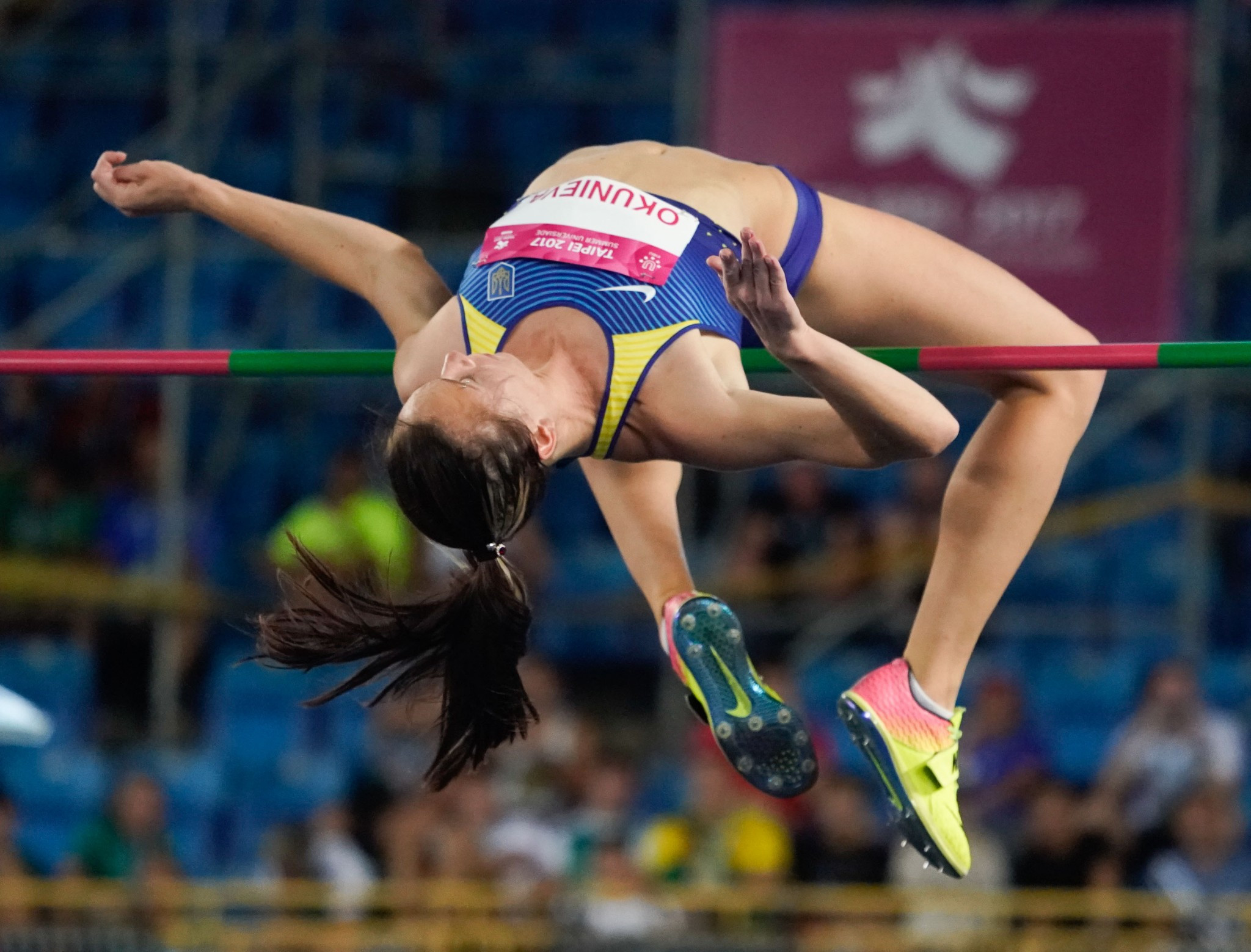Ukraine earned gold and silver in the women's high jump competition ©Taipei 2017