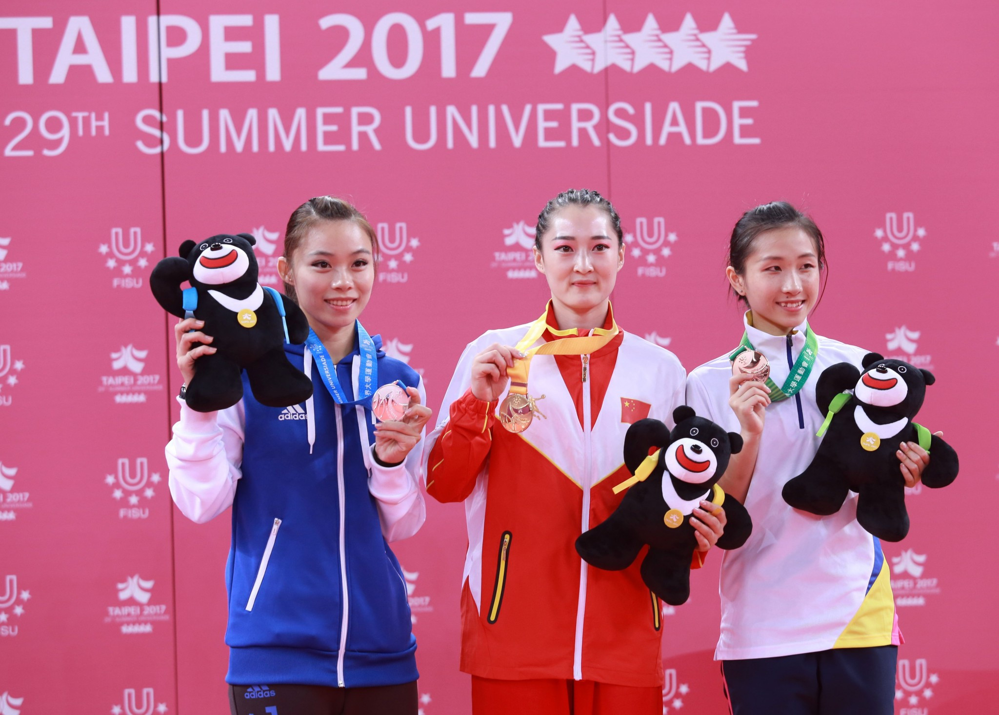 China won the two wushu gold medals on offer ©Taipei 2017