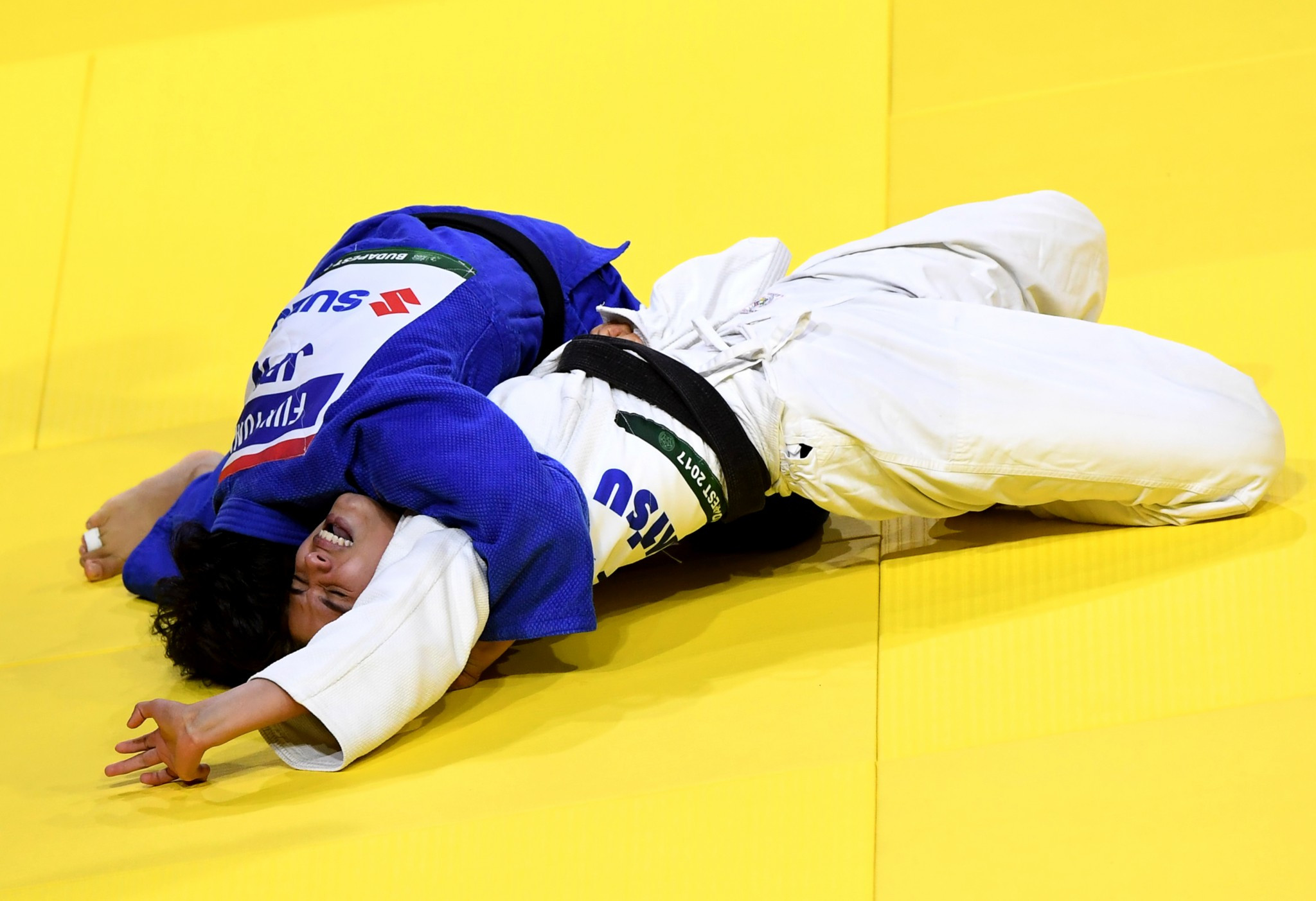Japan's debutant Funa Tonaki produced a superb performance to claim the under 46kg gold medal ©Getty Images