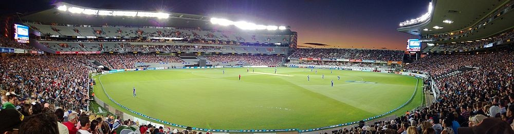 Eden Park has staged one-day international matches during floodlights ©Wikipedia