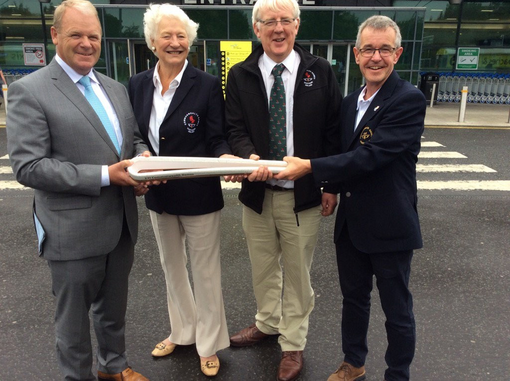 The Queen's Baton has arrived in Northern Ireland © Twitter