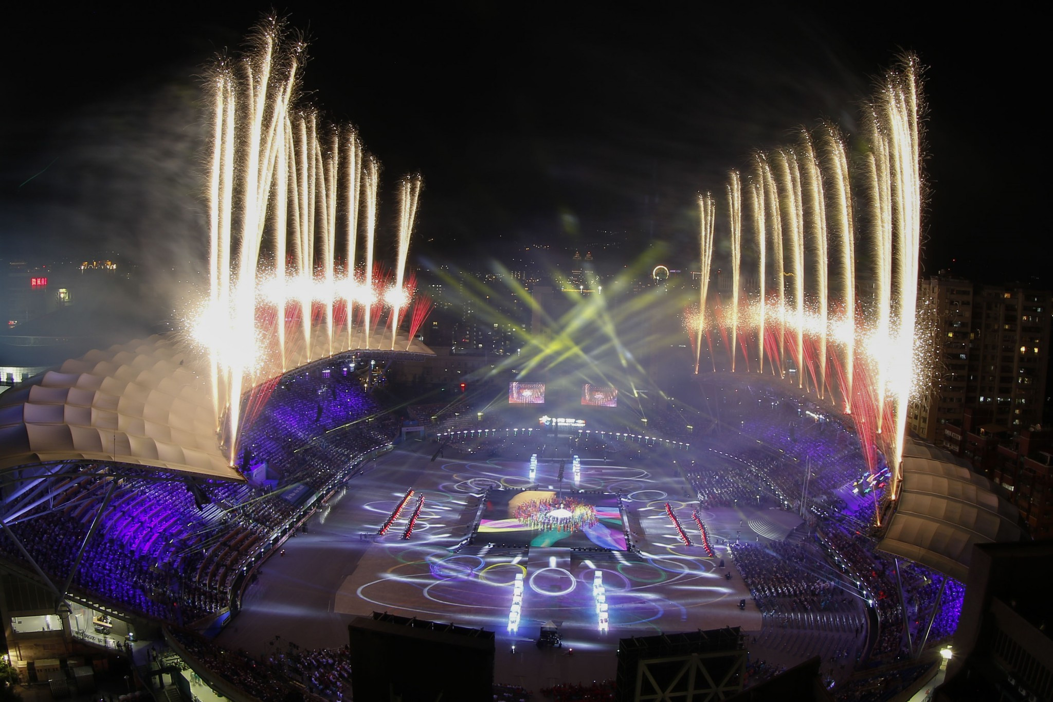 Tomorrow's Ceremony will conclude with an array of fireworks ©Taipei 2017