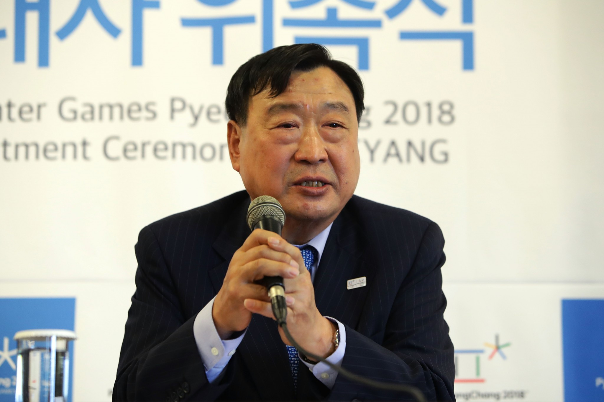 Pyeongchang 2018 President Lee Hee-beom was speaking at the beginning of the IOC Coordination Commission inspection ©Getty Images