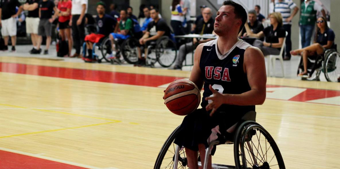 The United States men earned a win over Brazil  ©IWBF