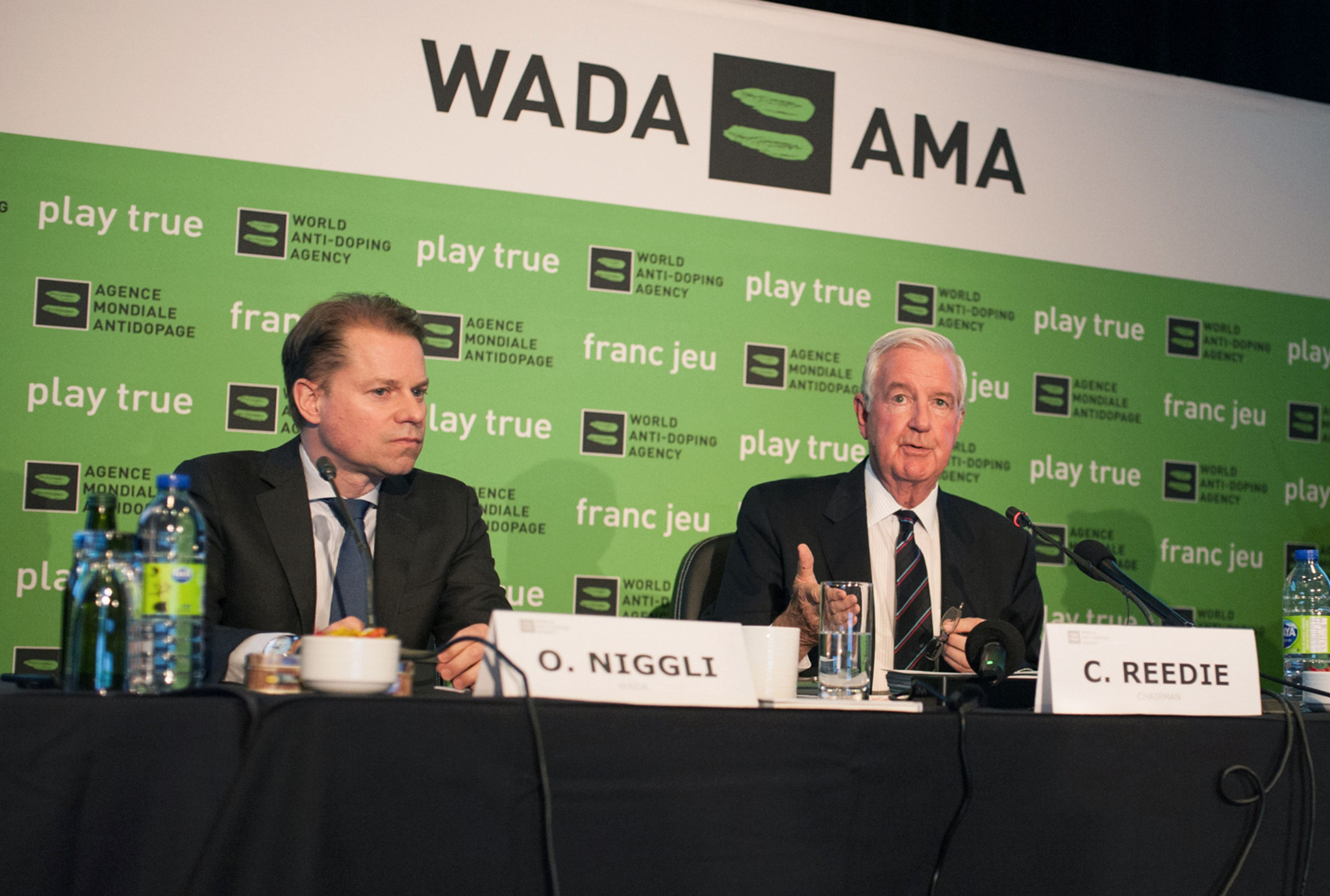 "Olivier Niggli, left, and Sir Craig Reedie, right, believe that WADA has been ""successful with their mission"" ©Getty Images"