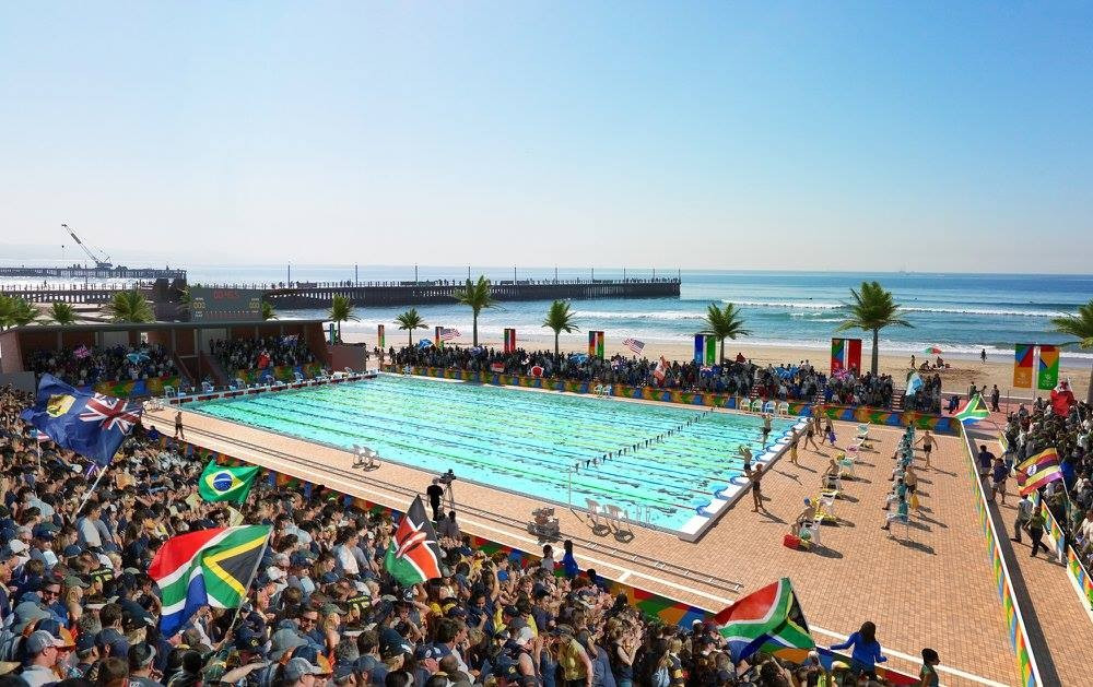 The Rachel Finlayson swimming pool will be improved for the Games but contingency plans are being sought in case of bad weather ©Durban 2022/Facebook