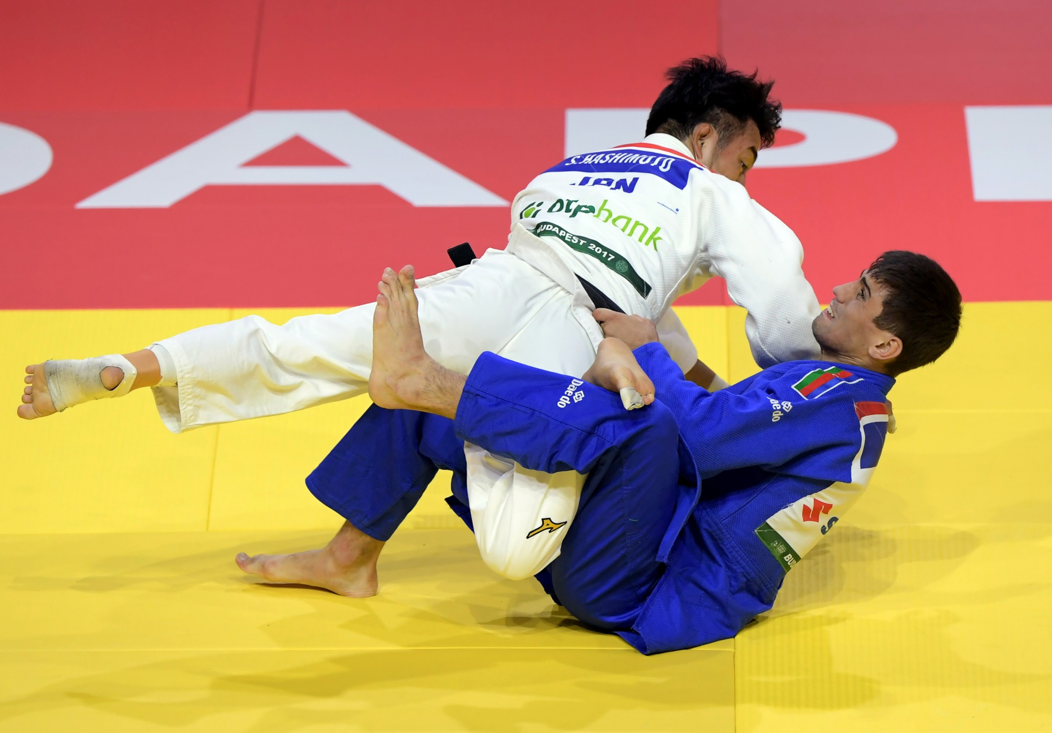 Soichi Hashimoto won Japan's fifth gold medal of the Championships with victory at under 73kg ©Getty Images