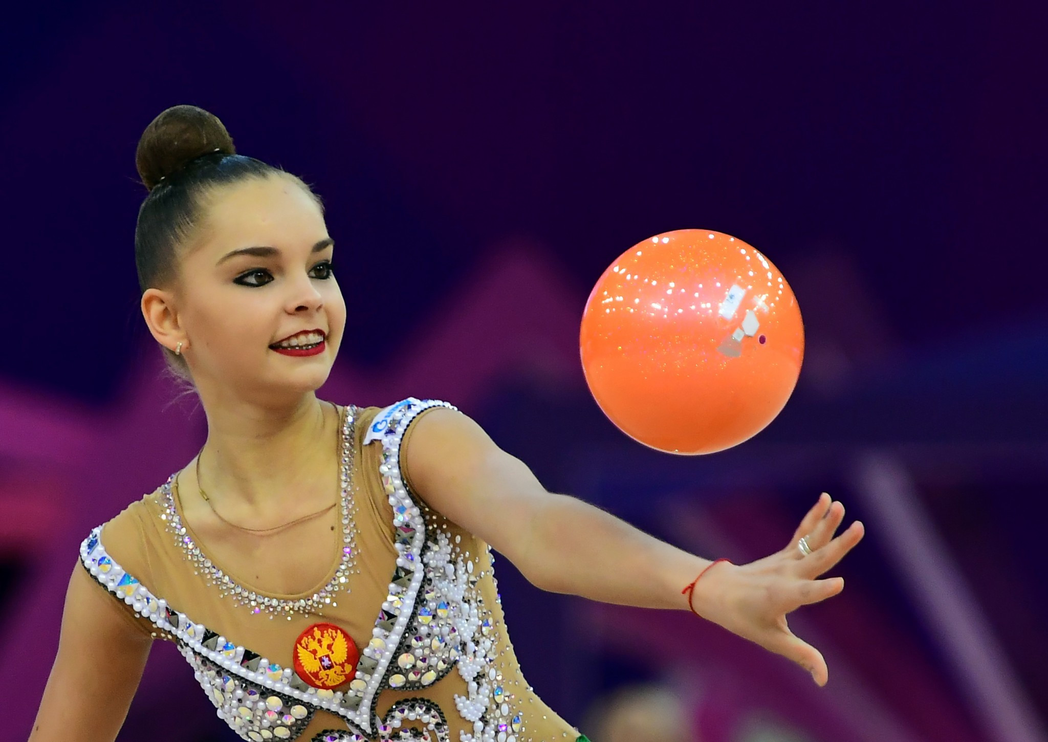 Arina Averina won the ball gold medal in Pesaro ©Getty Images
