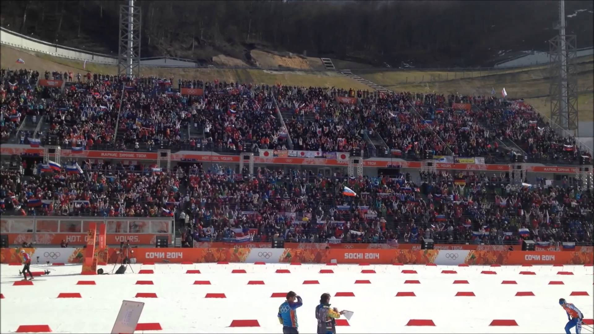 There were initial fears over low ticket sales for Sochi 2014 but crowds were generally good ©YouTube