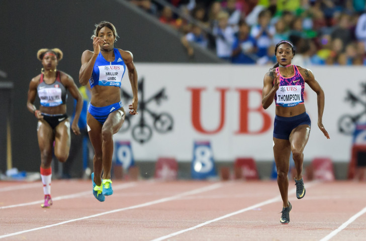 Shaunae Miller-Uibo beats Elaine Thompson to the 200m Diamond Trophy in the first of the IAAF Diamond League finals in Zurich last week. Both have points to prove at the second final in Brussels tomorrow night ©Getty Images