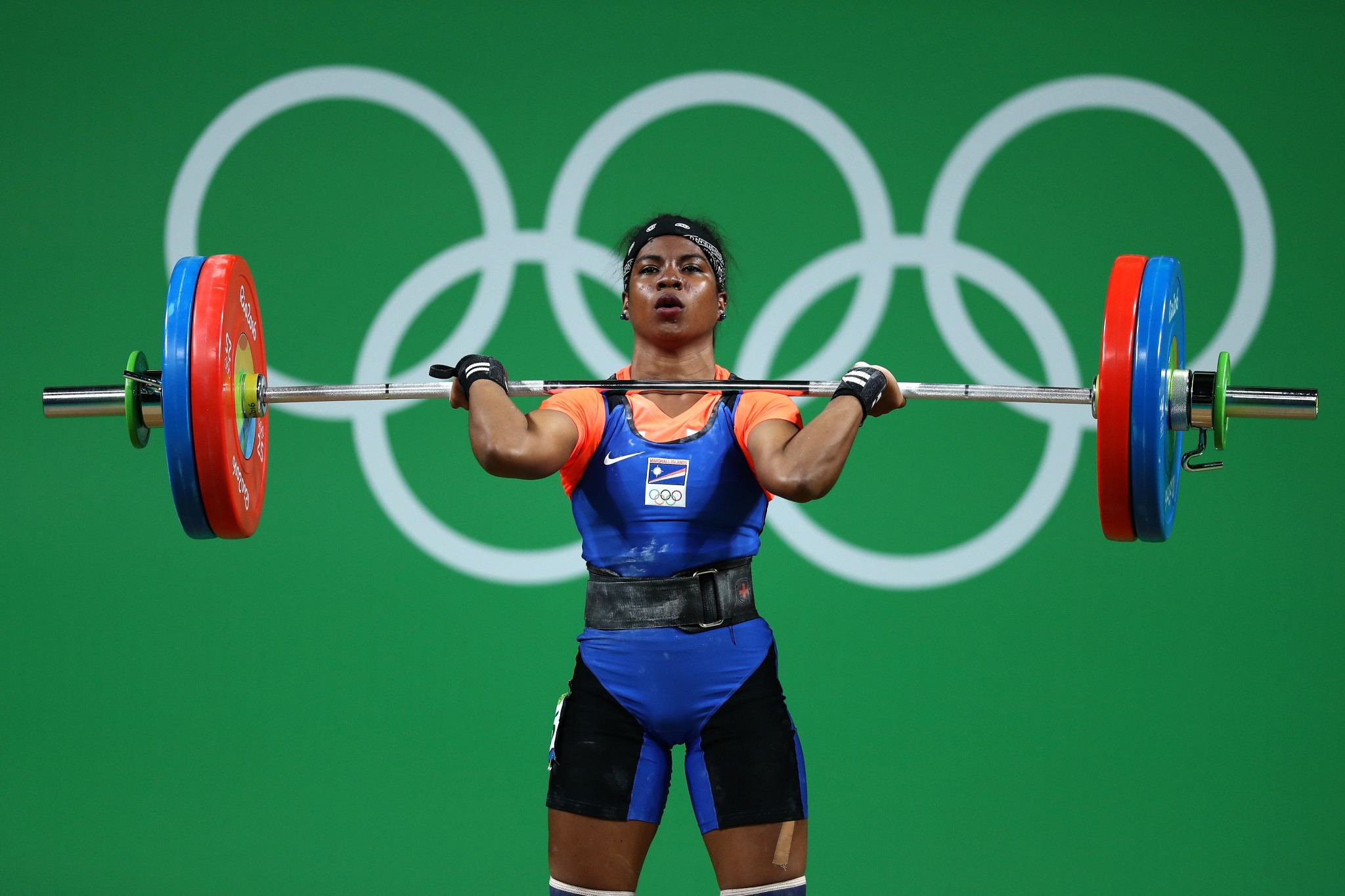 Weightlifter Mathlynn Sasser was part of the Marshall Islands team at Rio 2016 ©Getty Images