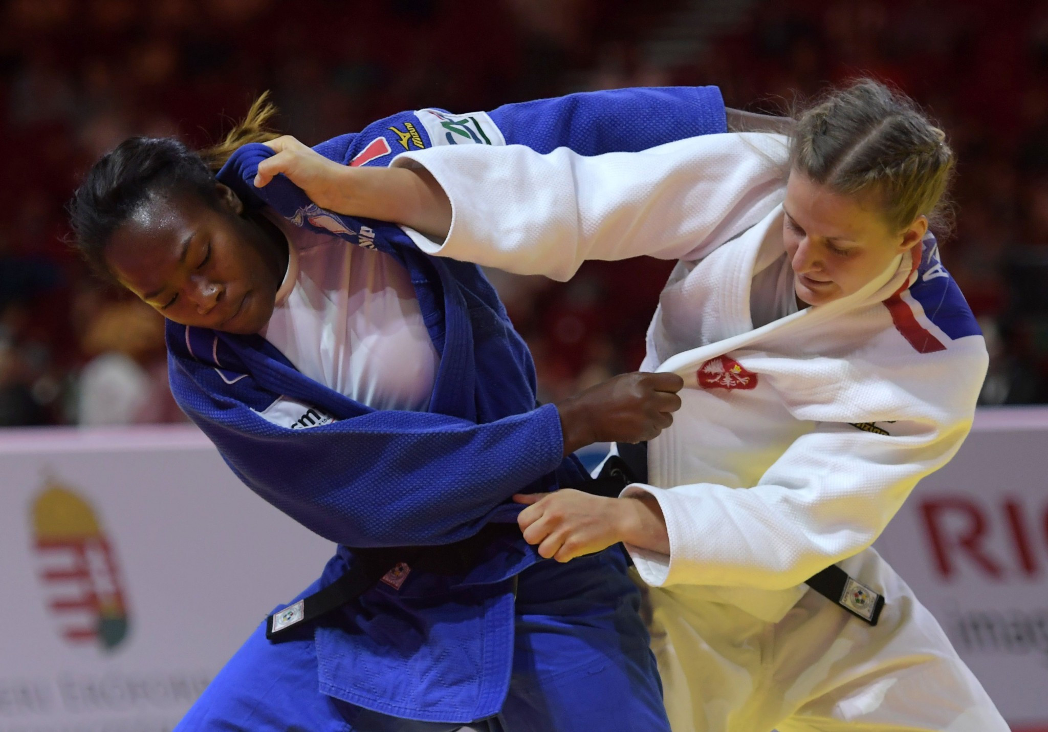 Clarisse Agbegnenou of Framce dethroned defending champion Tina Trstenjak to win the under 63kg title ©Getty Images