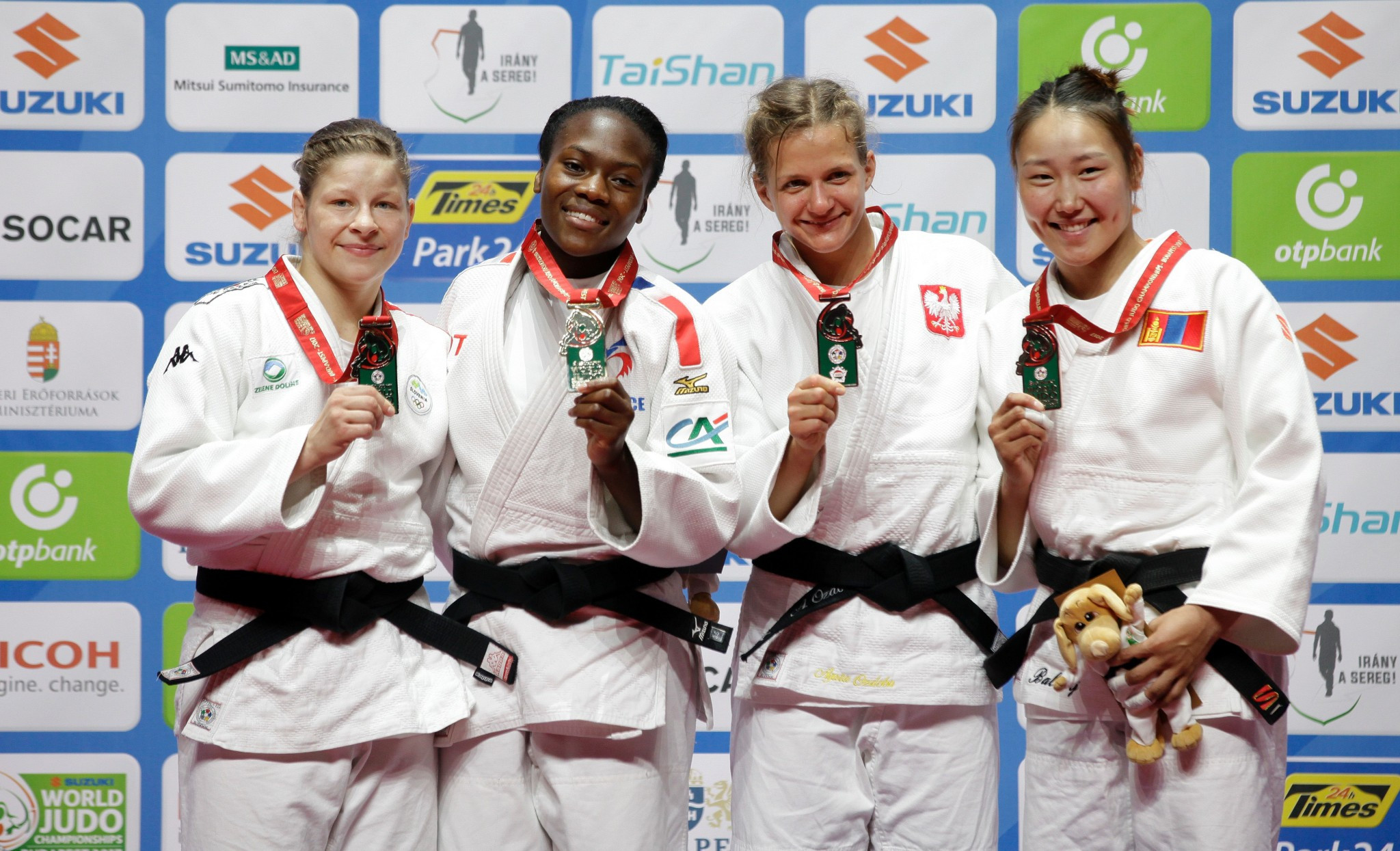 Clarisse Agbegnenou of France secured her second world title and first since 2014 ©Getty Images