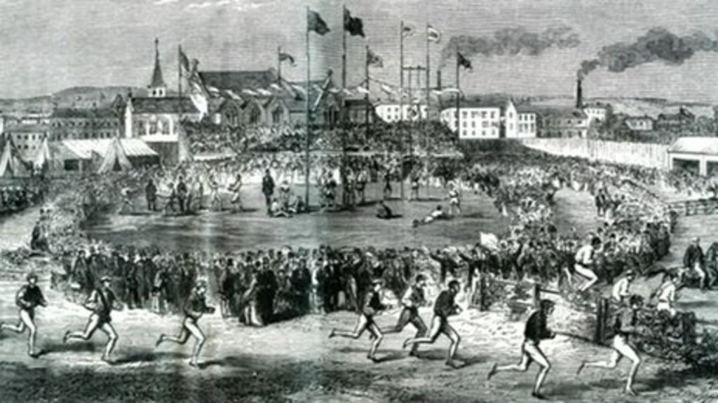 Large crowds watched the first Liverpool Olympic Festival in 1862 ©Wikipedia