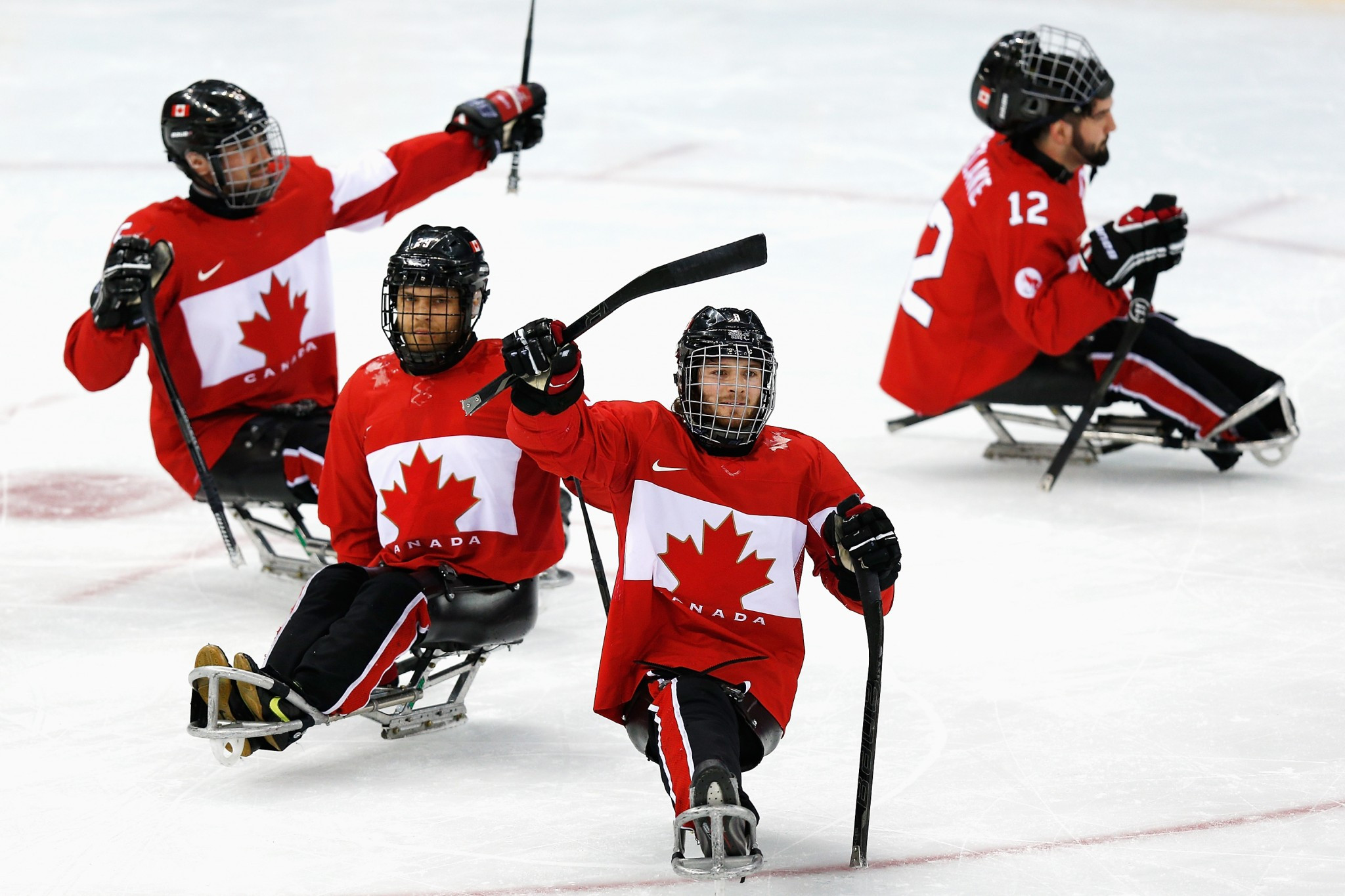 Canada won the ice sledge hockey bronze medal at the 2014 Winter Paralympic Games in Sochi ©Getty Images