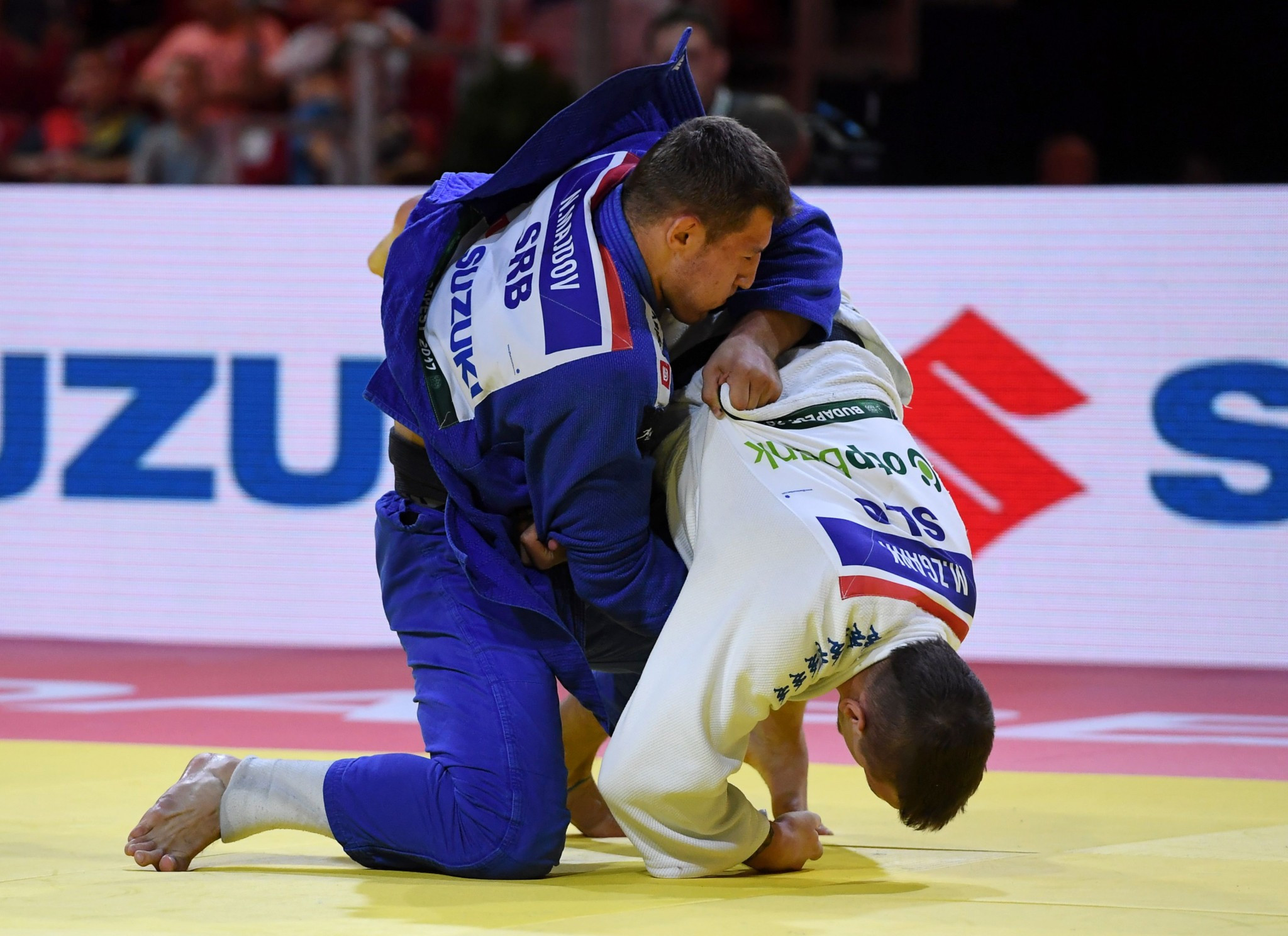 Serbia's Nemanja Majdov secured the other title on offer today as he overcame Mihael Žgank of Slovenia in the men's under-90kg final ©Getty Images