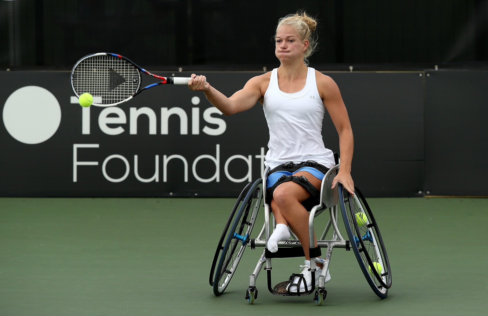 World number one Diede de Groot is aiming to hold all four Grand Slam titles at the same time ©ITF