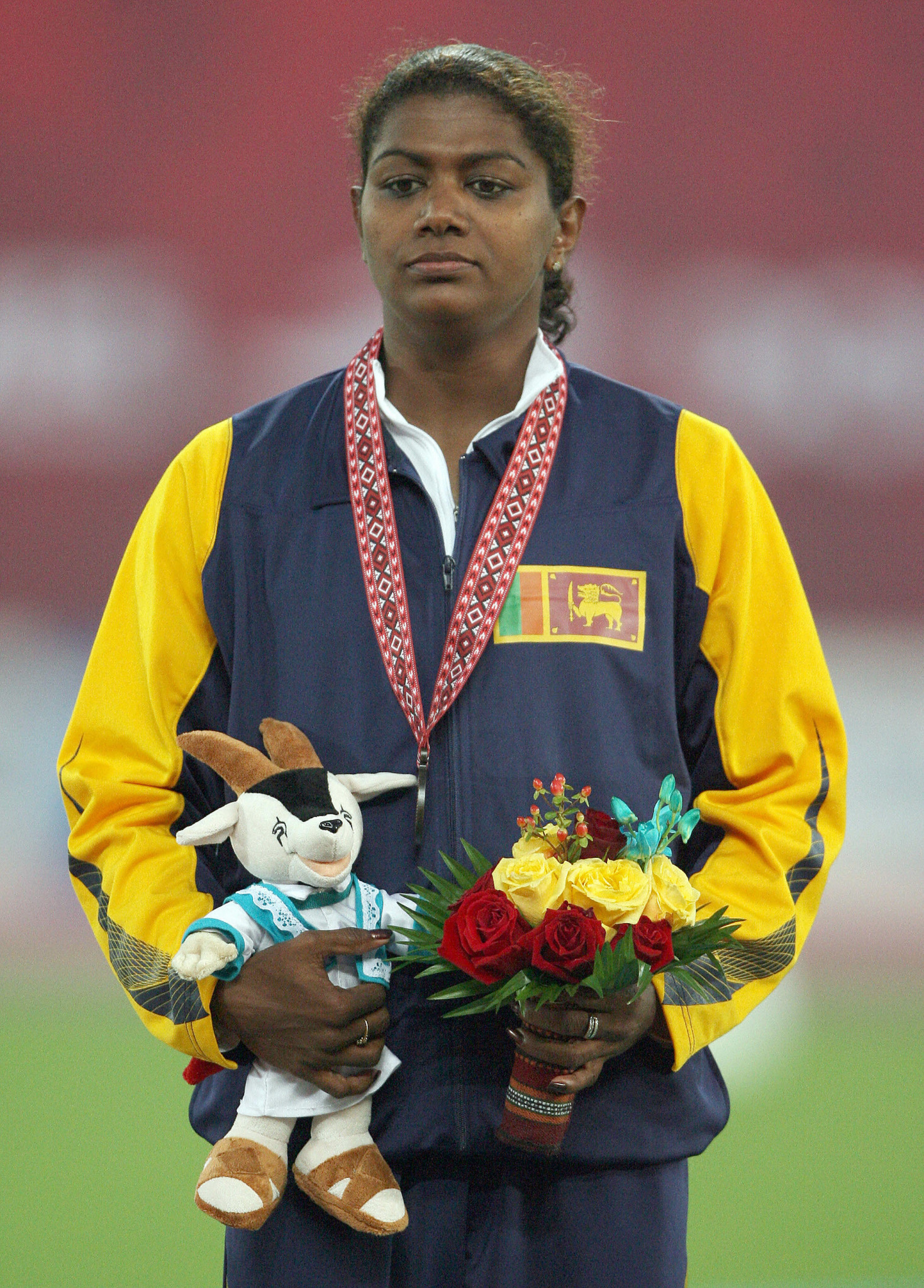 Susanthika Jayasinghe is one of two Olympic medallists in Sri Lanka's history ©Getty Images