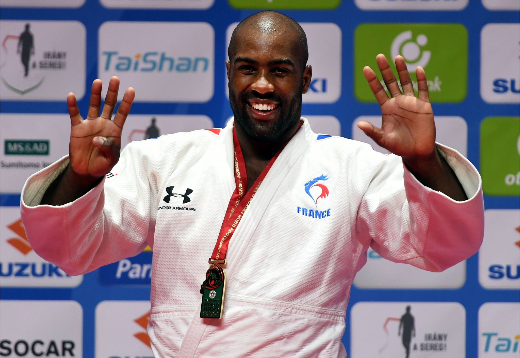 Riner secures ninth title and stretches winning streak to 134 matches at IJF World Championships