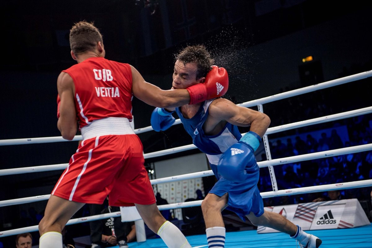 Flyweight Yosbany Veitia secured Cuba's second gold medal of the night with victory over Uzbekistan's Jasurbek Latipov ©AIBA