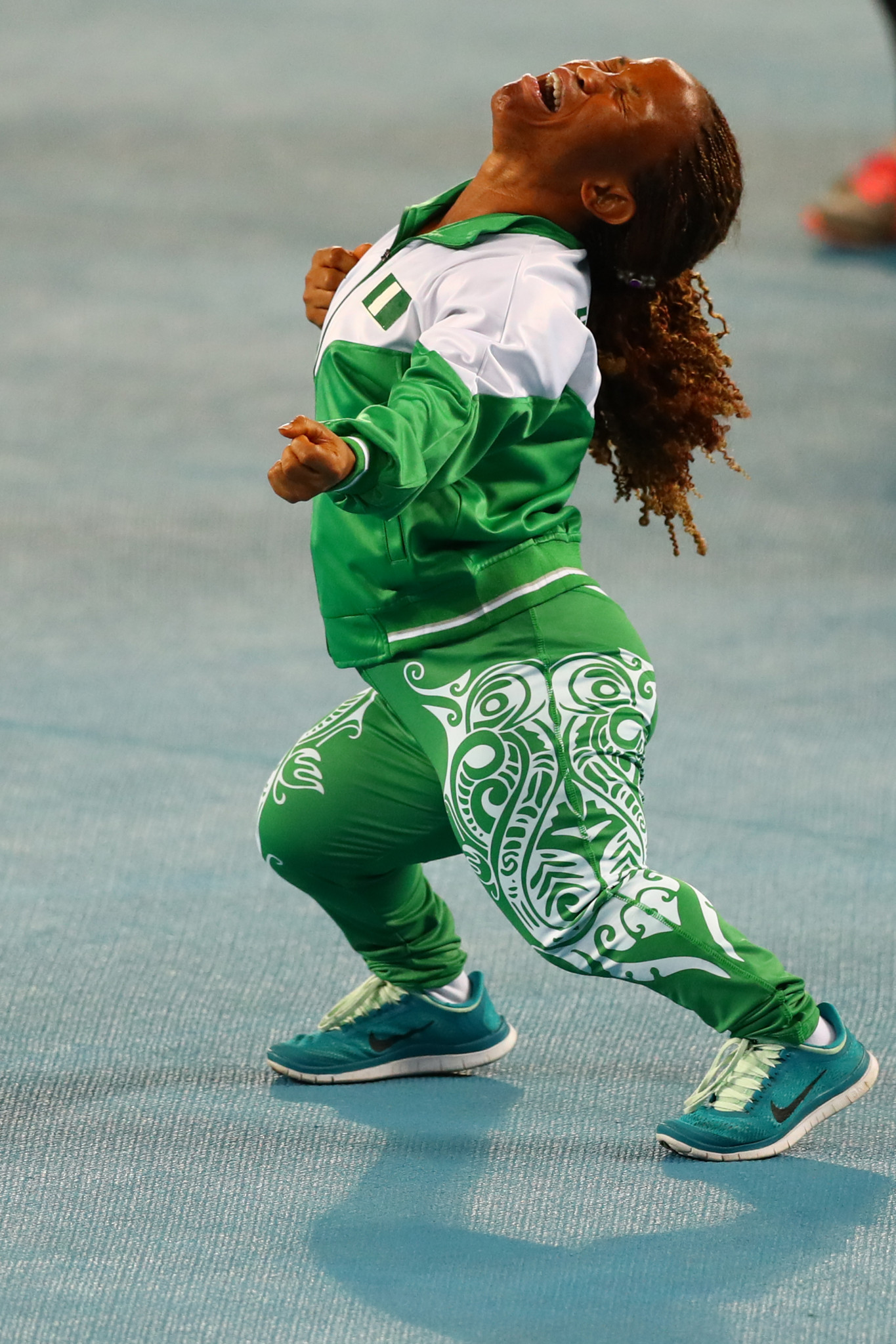 Lauritta Onye of Nigeria celebrates after breaking the world record in the women's shot put at the Rio 2016 Paralympic Games, an event plagued with problems  ©Getty Images