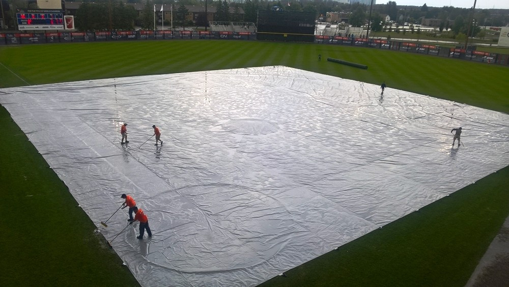 Two matches in Thunder Bay were rained off ©WBSC