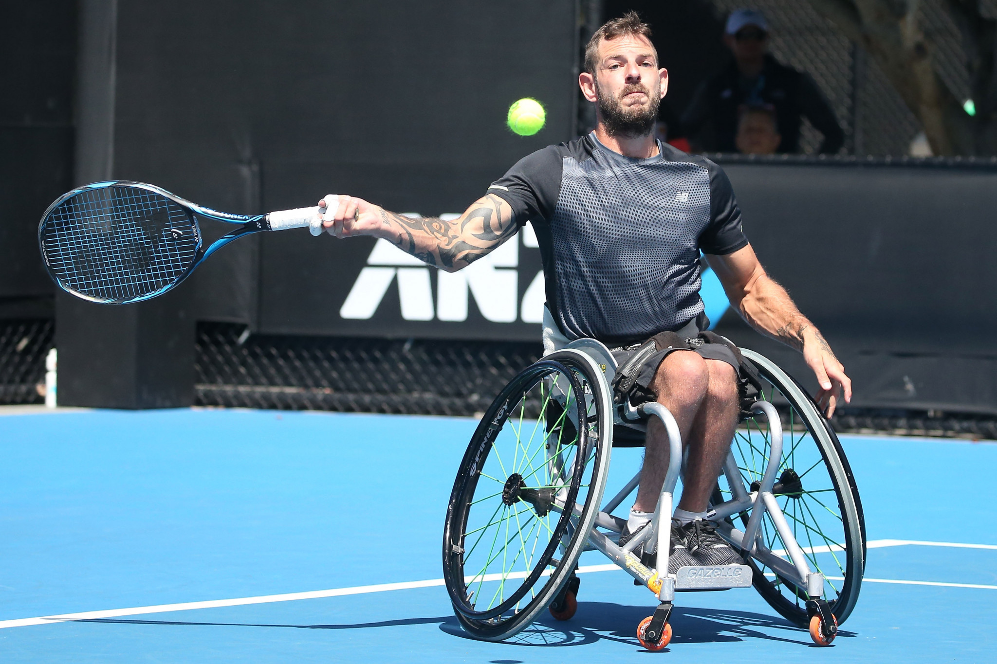 Australia's Heath Davidson is through to the quad singles final at the US Open United States Tennis Association Wheelchair Championships in St Louis ©Getty Images