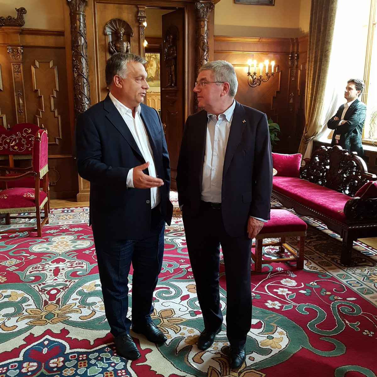 Thomas Bach also met with Hungarian Prime Minister Viktor Orbán during his visit to Budapest ©IOC