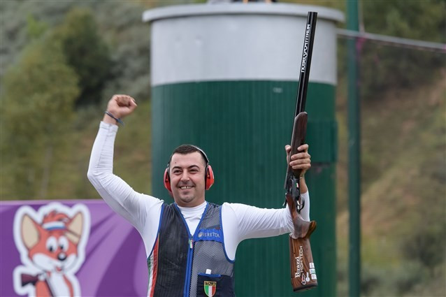 Resca wins men's trap title at ISSF Shotgun World Championships