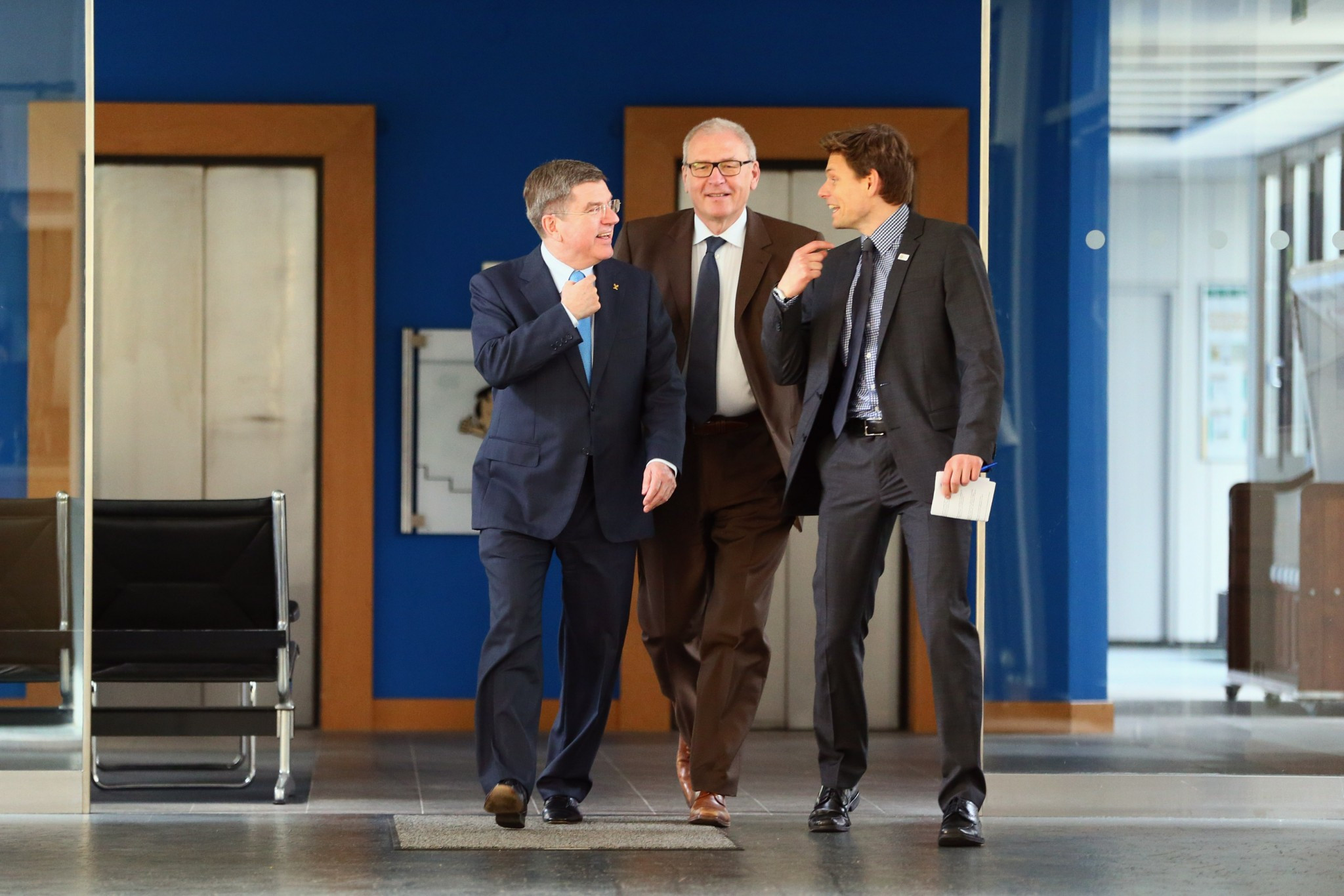 Christian Klaue, right, had moved to the IOC shortly after ex-DOSB chief Thomas Bach succeeded Jacques Rogge as its President in September 2013 ©Getty Images