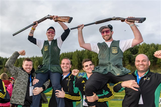 Australia made history with the first-ever mixed team trap world title ©ISSF