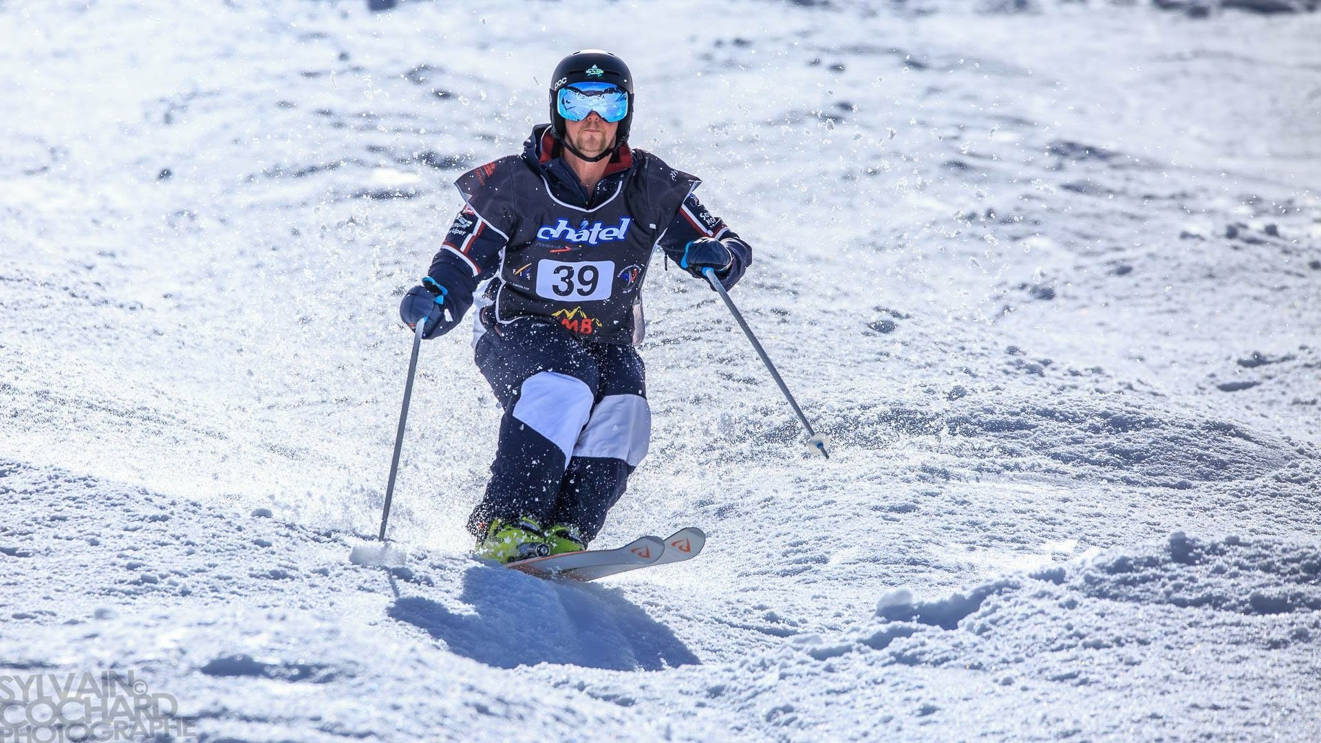 Tom Gerken-Schofield is among a talented crop of emgering moguls skiers from Britain ©BSS